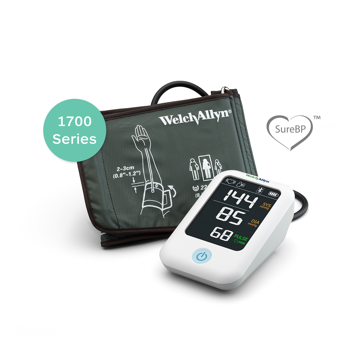 Welch Allyn Home Blood Pressure Monitor 1700 Series with SureBP® technology